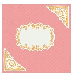 Decorative corners and frame in vintage style vector