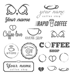 Collection of vintage logo and logotype elements vector