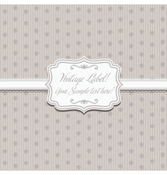 Elegant frame on pattern vector