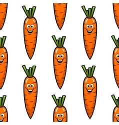 Cartoon carrot vegetables seamless pattern vector