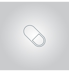Pill web icon vector