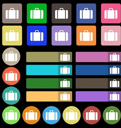 Suitcase icon sign set from twenty seven vector
