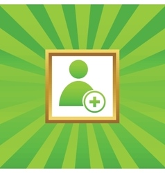 Add user picture icon vector image