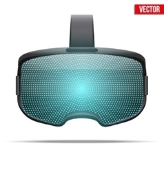 Original stereoscopic 3d vr headset vector