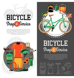 Mountain biking vertical banners vector