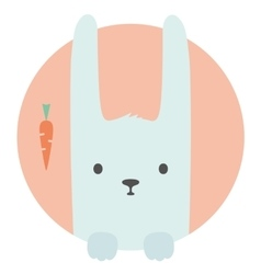 Animal set portrait in flat graphics - hare vector