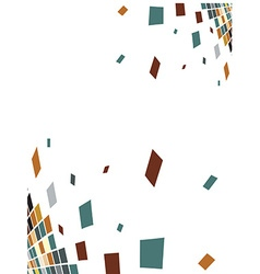abstract mosaic composition vector image vector image