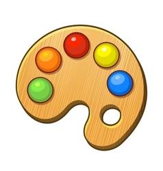 Art palette icon with color paints vector