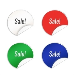 Blank template label vector image