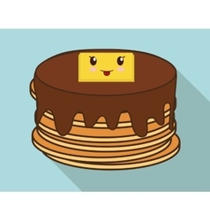 Breakfast design kawaii pancake icon vector