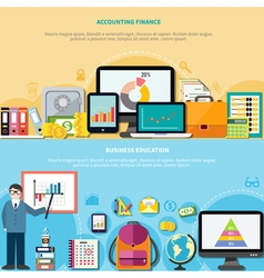 Business Education And Accounting Finance Banners vector image