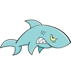 Cartoon Angry Shark vector image vector image