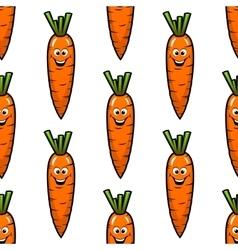 Cartoon carrot vegetables seamless pattern vector