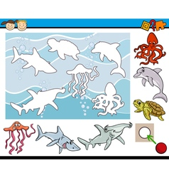 cartoon game for preschool kids vector image vector image