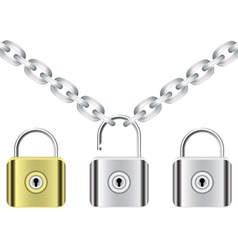 Chain and locks vector