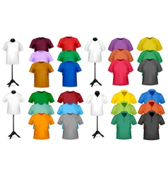 color t-shirt design template vector image vector image