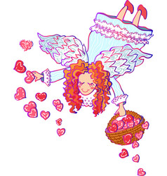 Colorful of angel valentine vector
