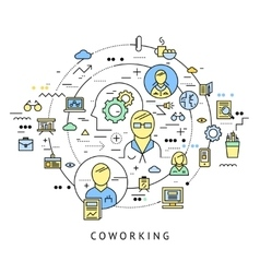 Coworking round composition vector