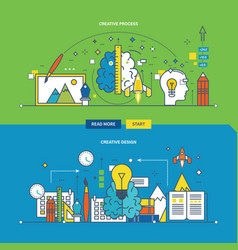 creative process innovation and creative design vector image