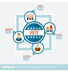 Election flat concept vector