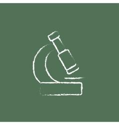Microscope icon drawn in chalk vector