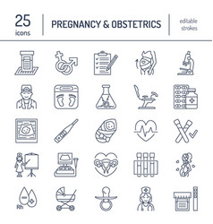 modern line icon of pregnancy management vector image vector image