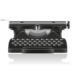 Old typewriter 01 vector