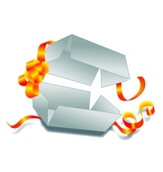 opened gift vector image