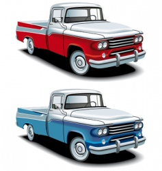 retro American pickup vector image