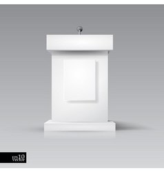 Rostrum-podium with microphone vector