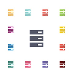 server flat icons set vector image vector image
