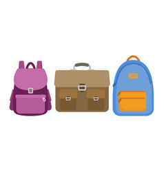 set of school bags vector image