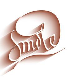 Smile lettering vector image