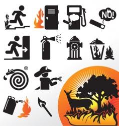 symbol fire vector image vector image