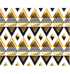 Triangle shape geometric african tribal seamless vector