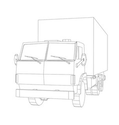 Truck with cargo container transportation concept vector