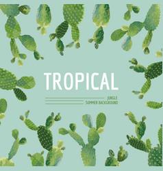 vintage tropical summer cactus graphic design vector image