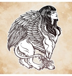 Sphinx beautiful ancient beast vector