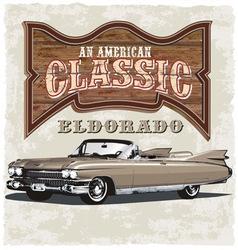 american classic eldorado vector image