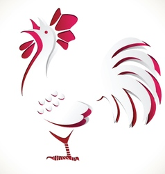 Chicken paper cut vector