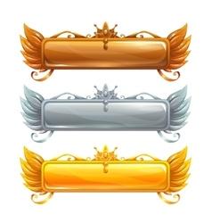 Cartoon title banners set vector