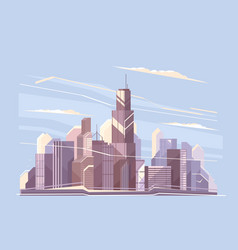 City landscape with skyscrapers vector