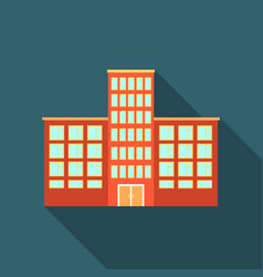hospital icon flate single building icon from the vector image