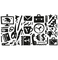 Business  office things - icons vector