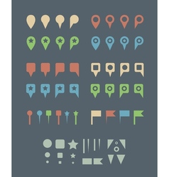 map pins flat vector image