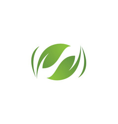 Leaves green nature logo and symbol vector
