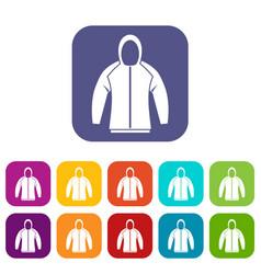 Sweatshirt icons set vector