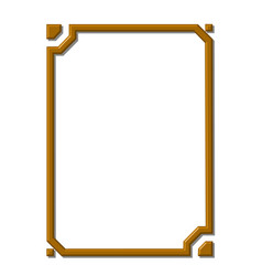 Modern golden frame vector