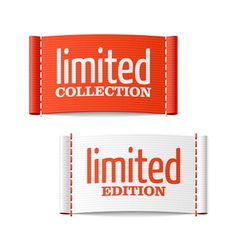 Limited collection and edition clothing labels vector