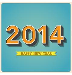 Happy new year retro poster vector image